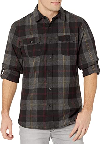 Dip Dyed Brown Plaid Shirt Cinnamon Brown and Black Bleach Dyed Reclaimed Button-up Shirt Heavy Weight Mens S #373 Upcycled Clothing