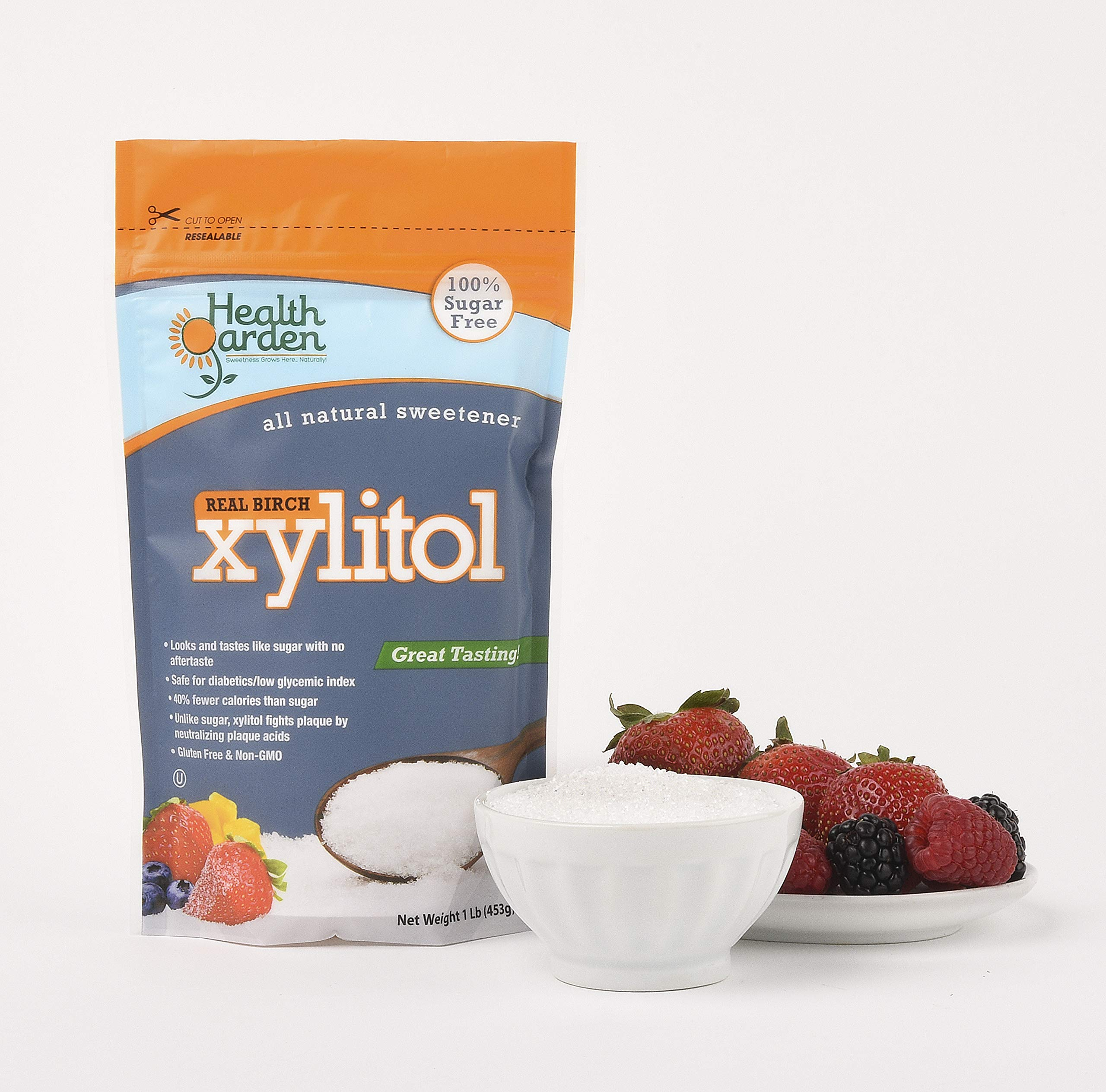 Health Garden Birch Xylitol Sugar Free Sweetener, All Natural Non GMO, Not from Corn by HEALTH GARDEN (Image #3)