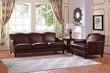 Miraculous Hydeline Oxford 100 Leather Set Sofa And Chair Brown Ibusinesslaw Wood Chair Design Ideas Ibusinesslaworg