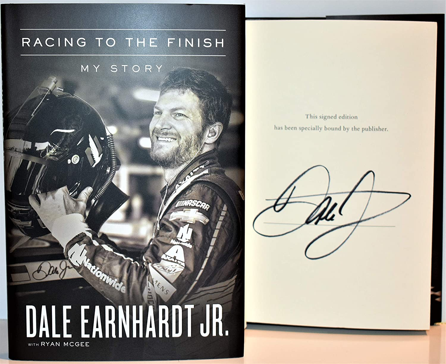 Racing to the Finish AUTOGRAPHED by Dale Earnhardt Jr (SIGNED BOOK) Signed Edition