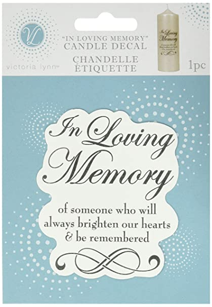 amazon com darice vl5880 in loving memory candle decal 3 inch by 3