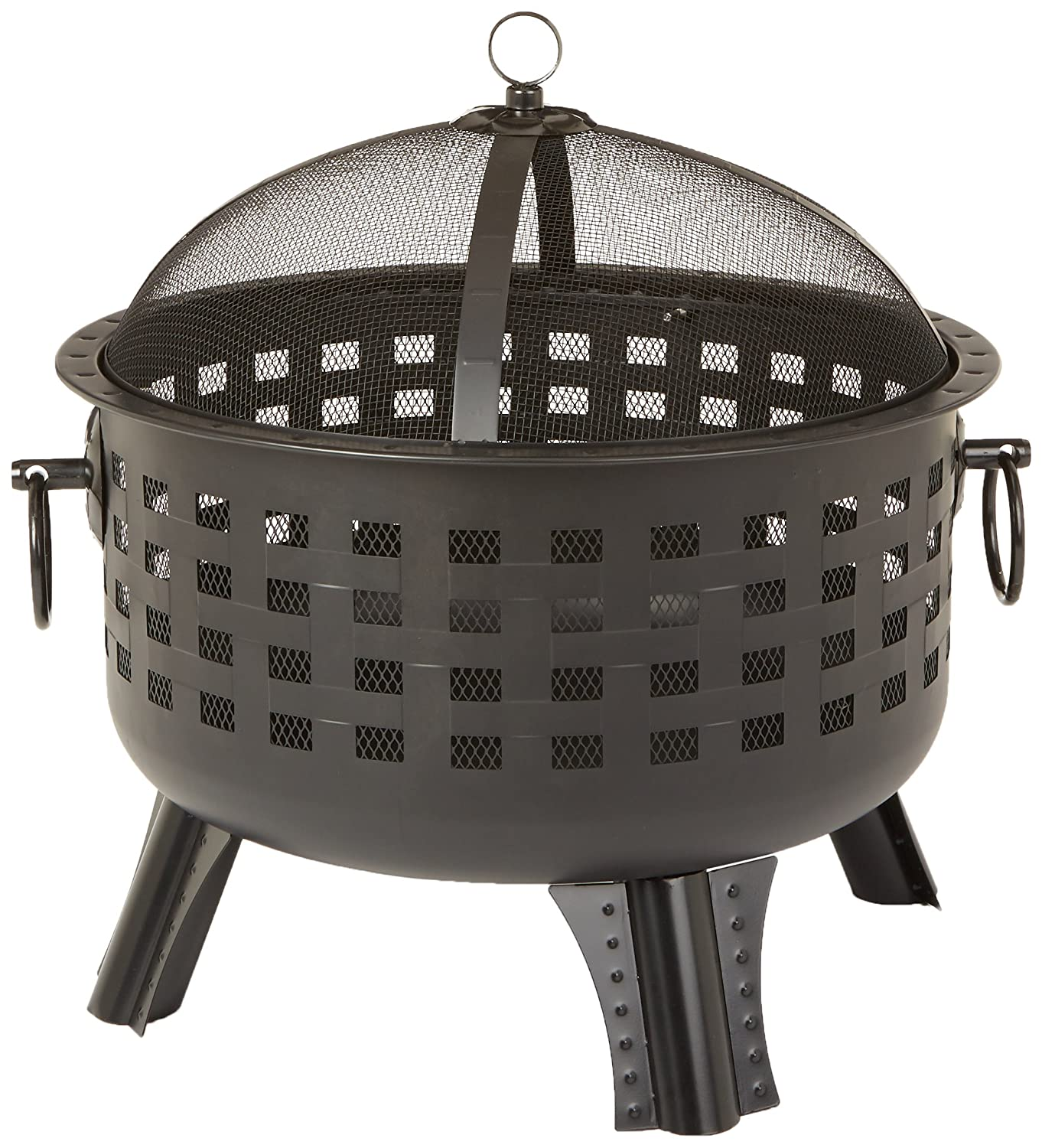 AmazonBasics Steel Lattice Fire Pit, 23-1/2-Inch AB-23-LT-FP