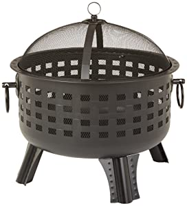 AmazonBasics 23.5 Inch Steel Lattice Fire Pit