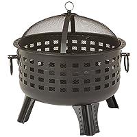 Feuerstelle XXL schwarz Fire Pit ✔ rund