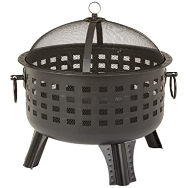 27-8-Inch Steel Lattice Fire Pit