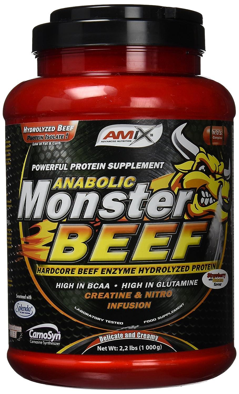 Amix Monster Beef Protein 1 kg Chocolate: Amazon.es: Salud y cuidado personal