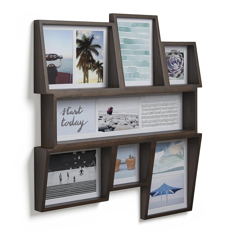 en bois Coloris bois naturel. UMBRA Edge Multi Frame pour 4 photos dont 2 de 10x15cm et 2 de 10x10cm Cadre photo multivues Edge