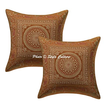 Stylo Culture Indian Cojín Mandala Covers 40 X 40 cm Gold ...