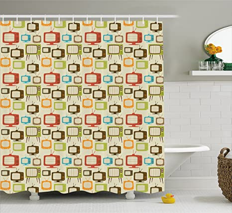 Review Ambesonne Vintage Shower Curtain,