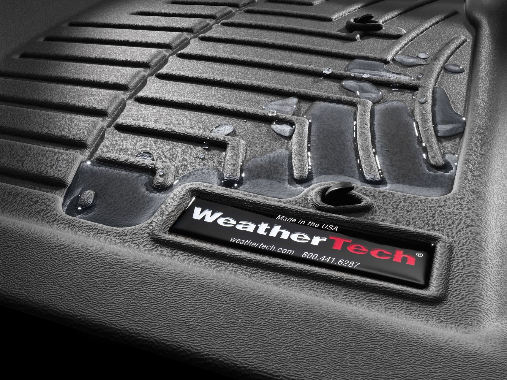 WeatherTech Compatible with 2016 Ford F-150 Floor Liners-Full Set (Includes 1st Row-Over-The-Hump and 2nd Row Uni-Liner) SuperCab (Extended Cab)-1st Row Bench-Black by WeatherTech (Image #1)