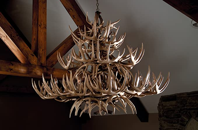 The grand teton whitetail antler chandelier amazon the grand teton whitetail antler chandelier aloadofball Image collections