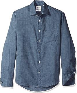 f51589556b Amazon.com  Billy Reid Men s Distressed Denim Brass Snap Work Shirt ...