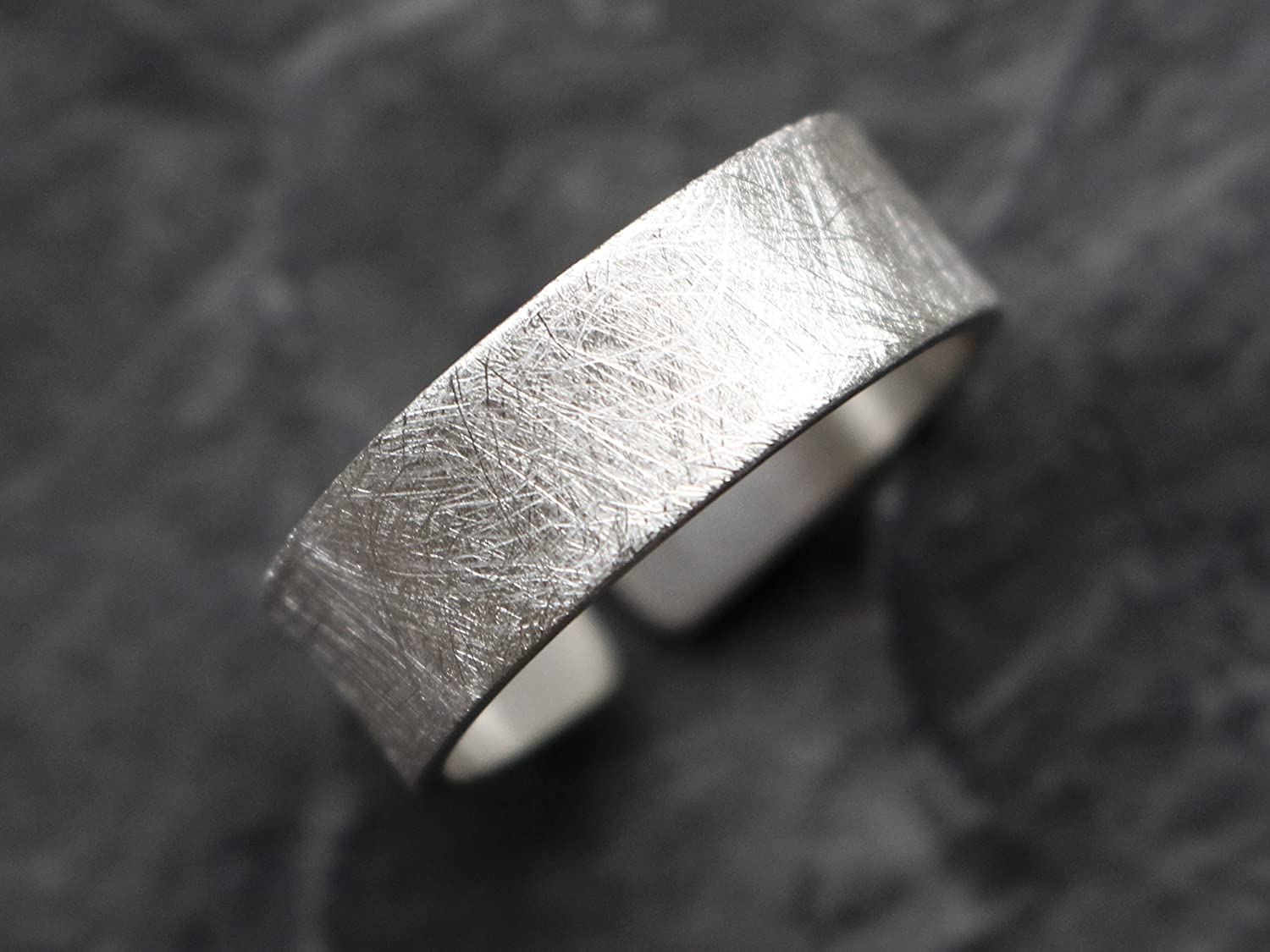 925 Sterling Silber Ring 7mm gebü rstet