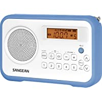 Sangean PR-D18BU AM/FM/Portable Digital Radio with Protective Bumper (White/Blue)