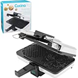 "CucinaPro Non-Stick Pizzelle Maker 220-05NS - Makes Two 5"" Cookies at Once"