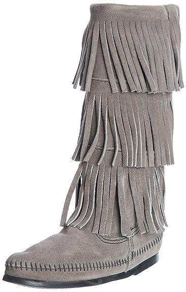 Womens Boots How To Buy 27913412 Minnetonka 3 Layer Fringe 6 Beige