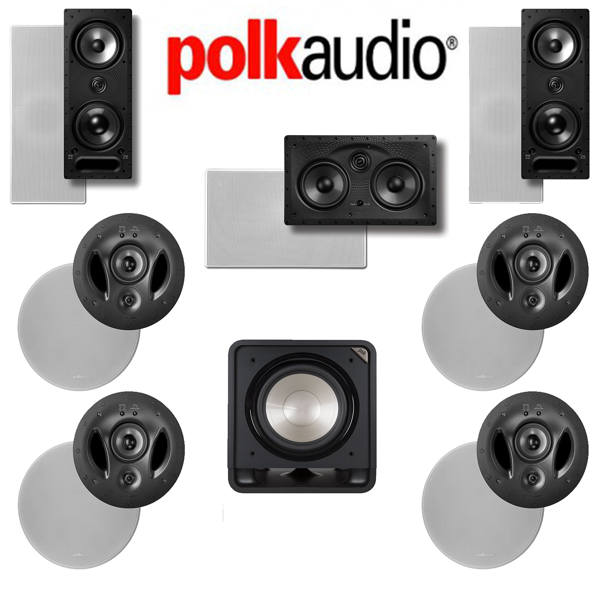 Polk Audio 900-LS 7.1 Vanishing Series In-Wall / In-Ceiling Home Theater System (900-LS + 265-LS + 255C-LS + HTS12) by Polk Audio