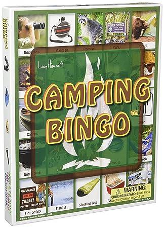 Lucy Hammett Games Camping Bingo Board Game (160 Piece), Multi