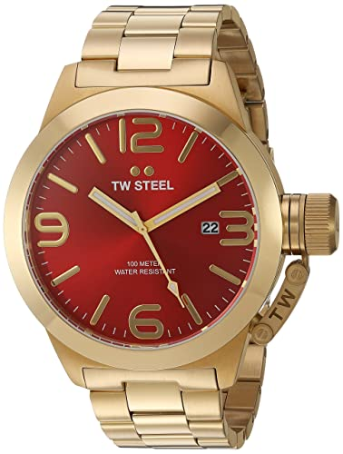 TW Steel Men s CB112 Analog Display Quartz Gold Watch