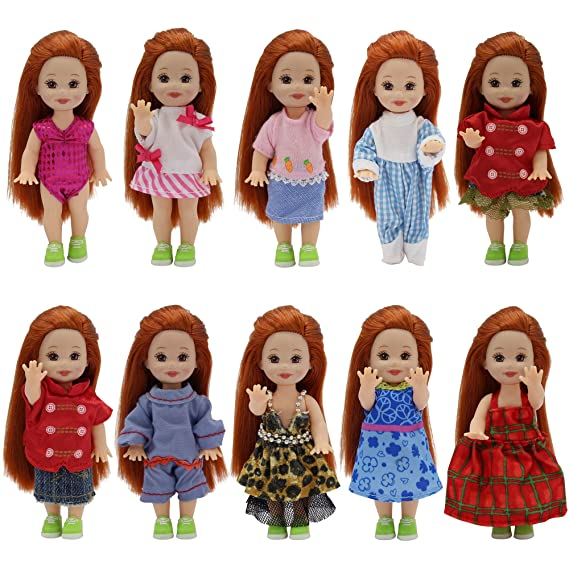 ZITA ELEMENT 10 Conjuntos Hecha a Mano Ropa Lindo Moda Fiesta para Barbie Hermana Muñeca 4 Pulgadas Kelly -Estilo Aleatorio: Amazon.es: Juguetes y juegos