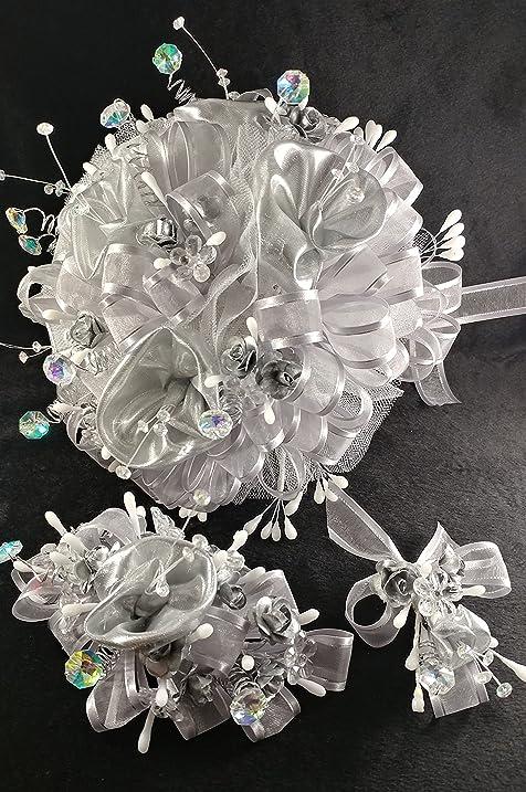 Amazon.com: 15th Quinceañera / Wedding Silver With Rhinestones Large ...