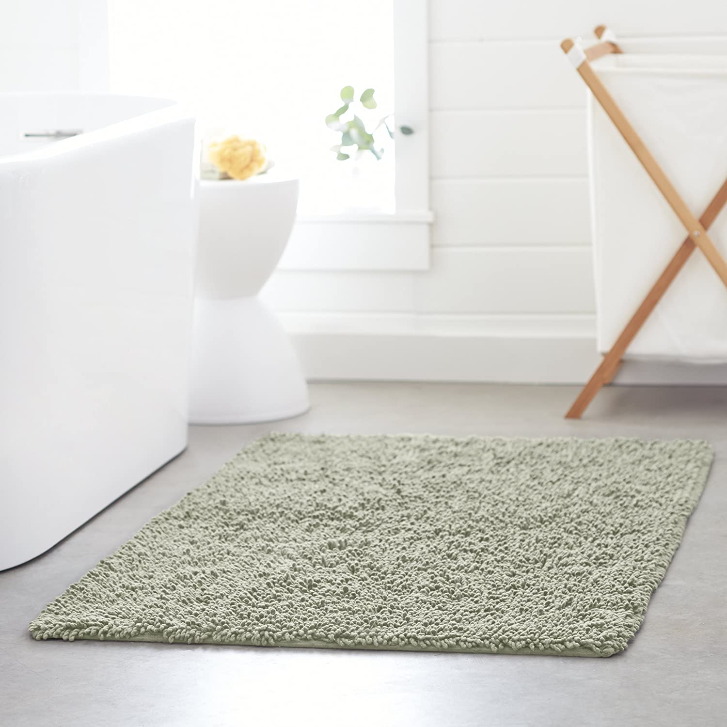 Amazoncom Pinzon Cotton Looped Bath Rug With NonSlip - Loop bath rug for bathroom decorating ideas