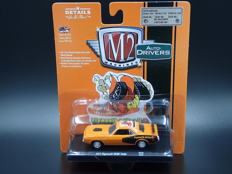 Amazon.com: M2 Machines 1971 Plymouth HEMI Cuda R50 2018 Auto-Drivers: Toys & Games