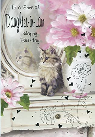 To A Special Daughter In Law Happy Birthday Sweet Kitten Birthday