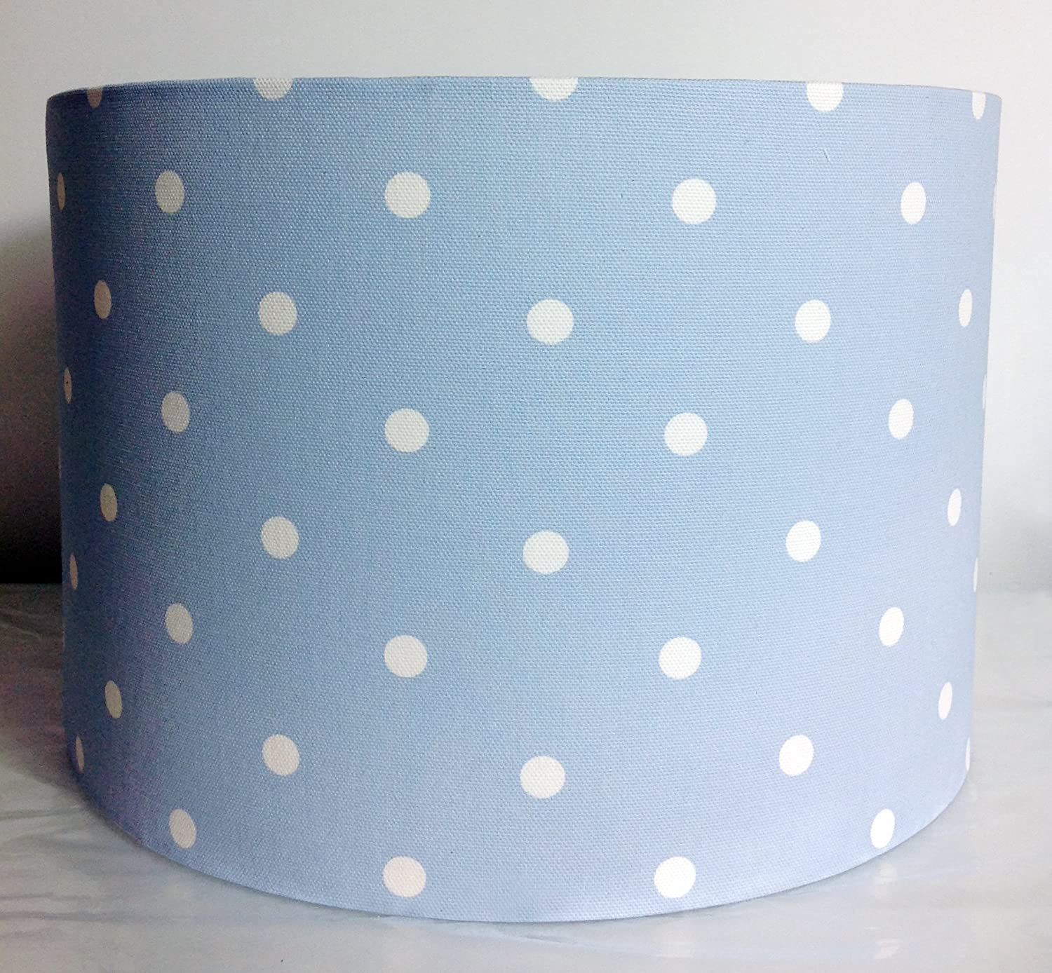 Baby blue polka dot light lamp shade amazon lighting aloadofball Choice Image