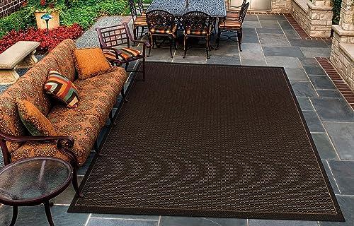 Couristan 1001 2000 Recife Saddle Stitch Black Cocoa Rug, 2-Feet by 3-Feet 7-Inch