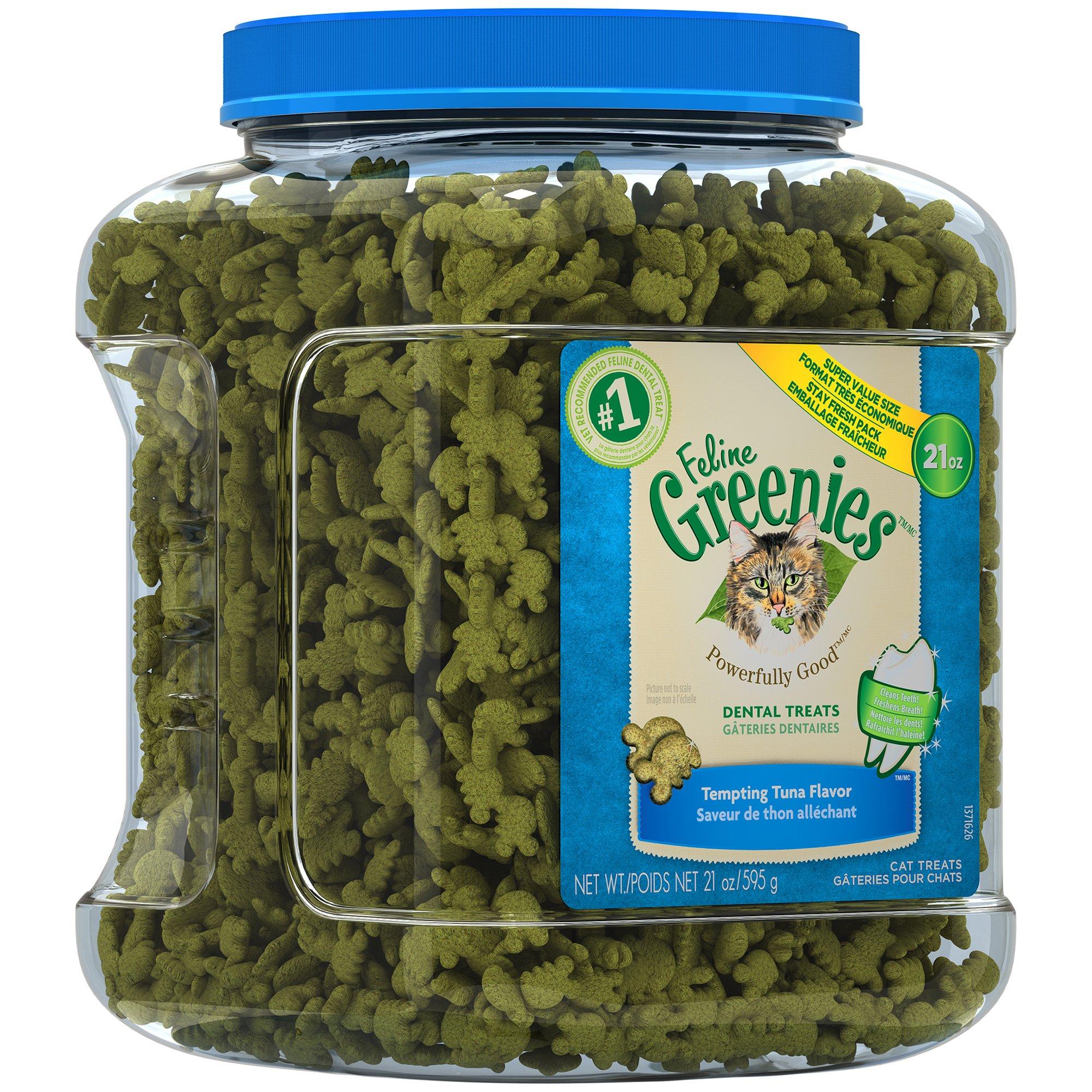 Greenies FELINE Dental Treats Tempting Tuna Flavor 21 Ounces