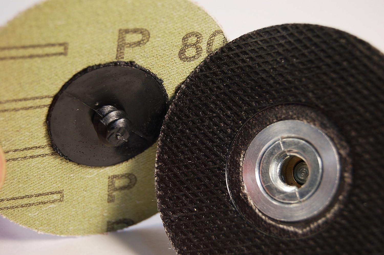 /perceuse rotatif Patins de changement rapide de 7,6/cm pon/çage et polissage pour mandrin pour disques Roloc/