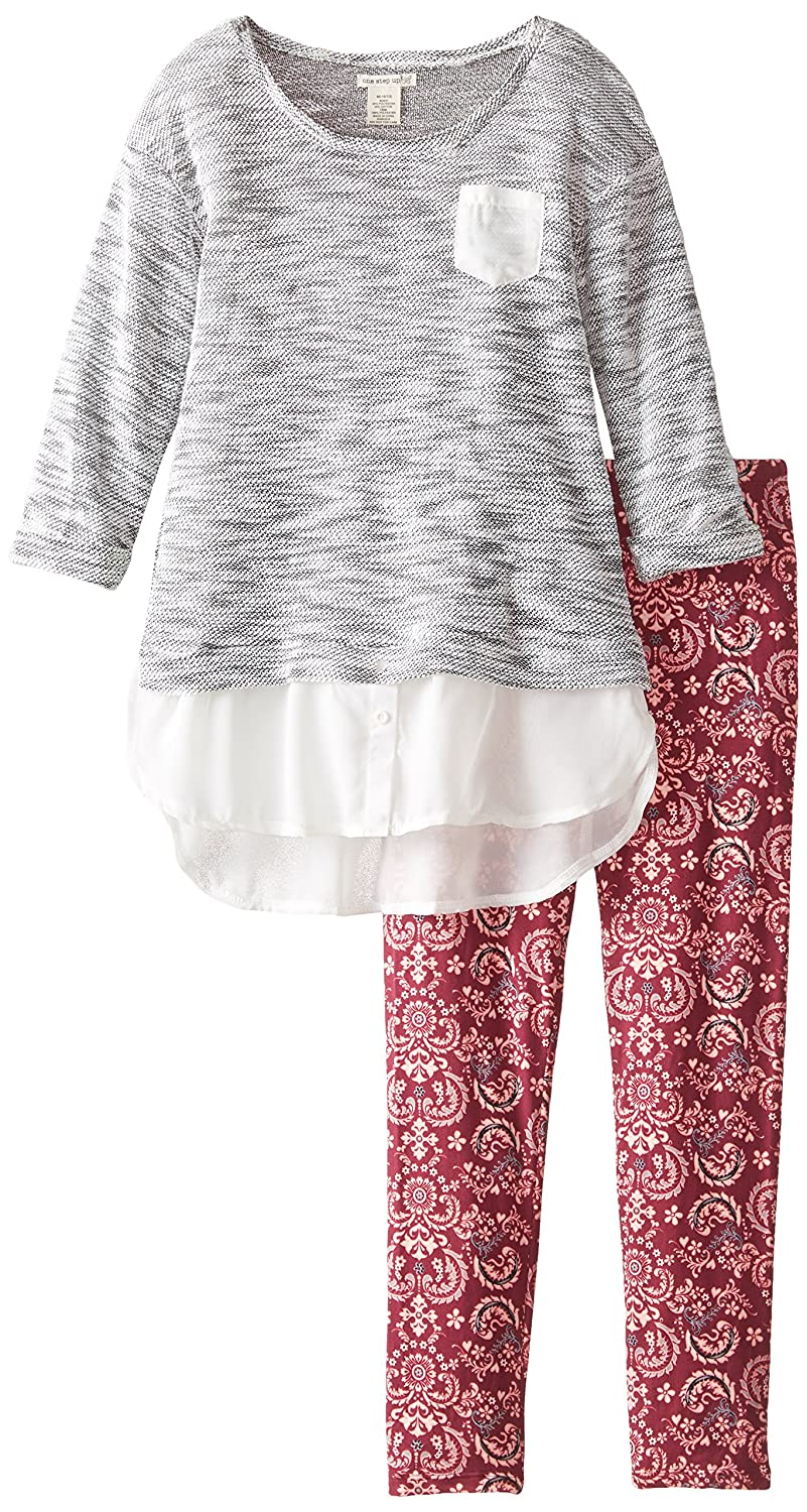 One Step Up Big Girls Two-Piece Set with Sweater Top with Leggings