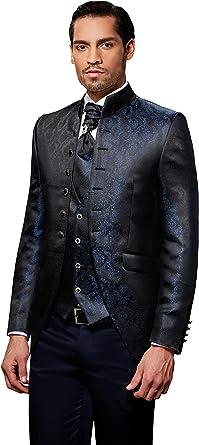 Herren Anzug Cut Barock 8 teilig Schwarz Marineblau