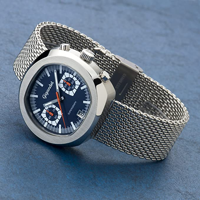 Amazon.com: Gigandet Mens Quartz Wrist Watch Supergraph Chronograph Analogue Date Silver Blue G11-003: Watches