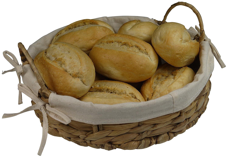 khevga panecillos cesta de jacinto de agua con plástico – Redondo ...