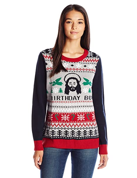 Ugly Christmas Sweater Company Cumpleañero Chamarra sin botón para ... d1b15a458b75