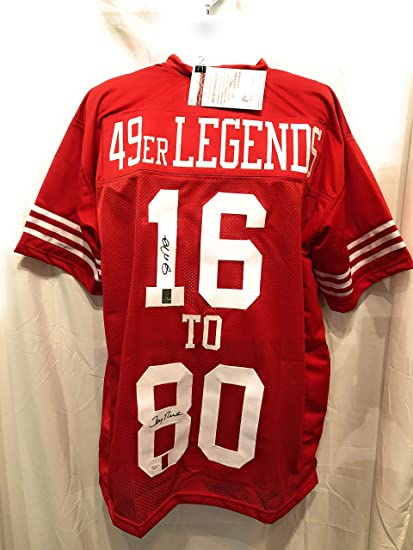 Image Unavailable. Image not available for. Color  Joe Montana Jerry Rice  San Fransico 49ers Dual Signed Autograph Custom Jersey ... a7a89deef
