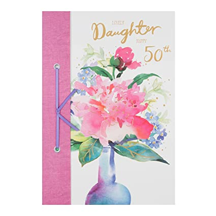 Amazon Hallmark Daughter 50th Birthday Card Lovely