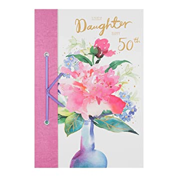 Hallmark Daughter 50th Birthday Card Lovely