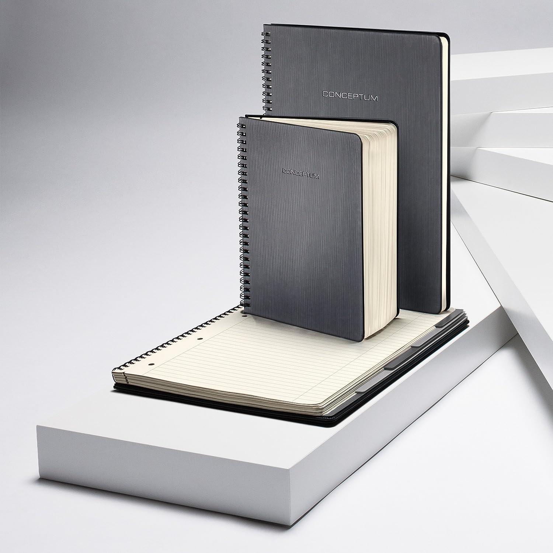 circa A4 copertina rigida 160 pagine a quadretti nero SIGEL CO840 Blocco spiralato con rubrica Conceptum
