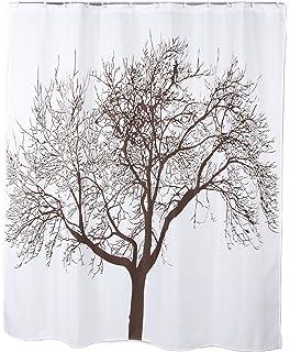70 X 72 Polyester Fabric Mocha Tree Shower Curtain