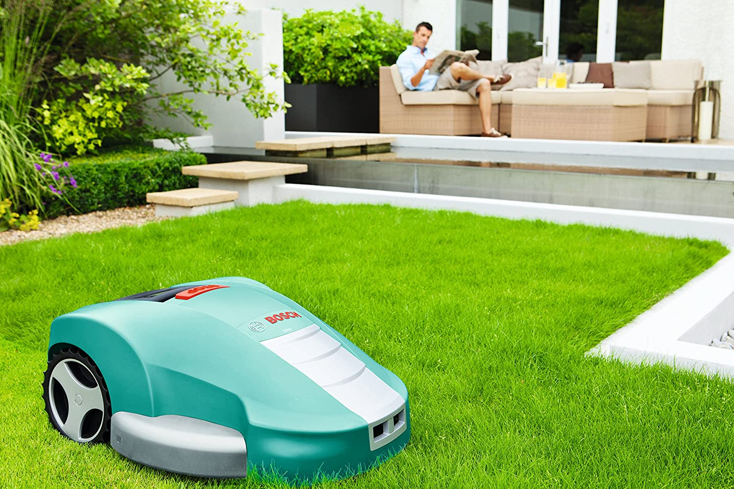 Bosch Home and Garden 0.600.8A2.100 Bosch Robot Cortacésped INDEGO ...