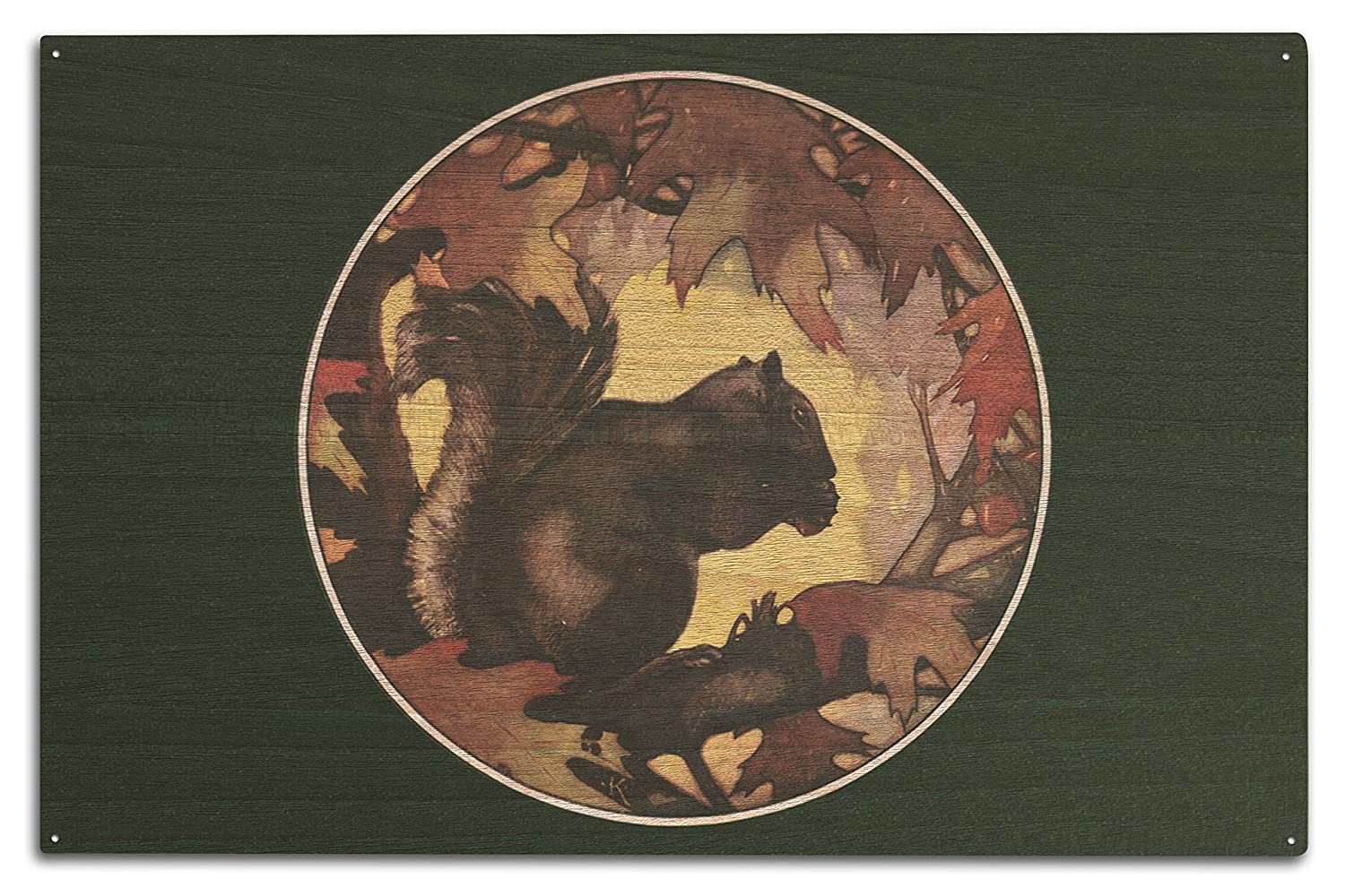 Nature Magazine – View of a Chipmuck in the Woods 10 x 15 Wood Sign LANT-30092-10x15W B07366XK4D  10 x 15 Wood Sign