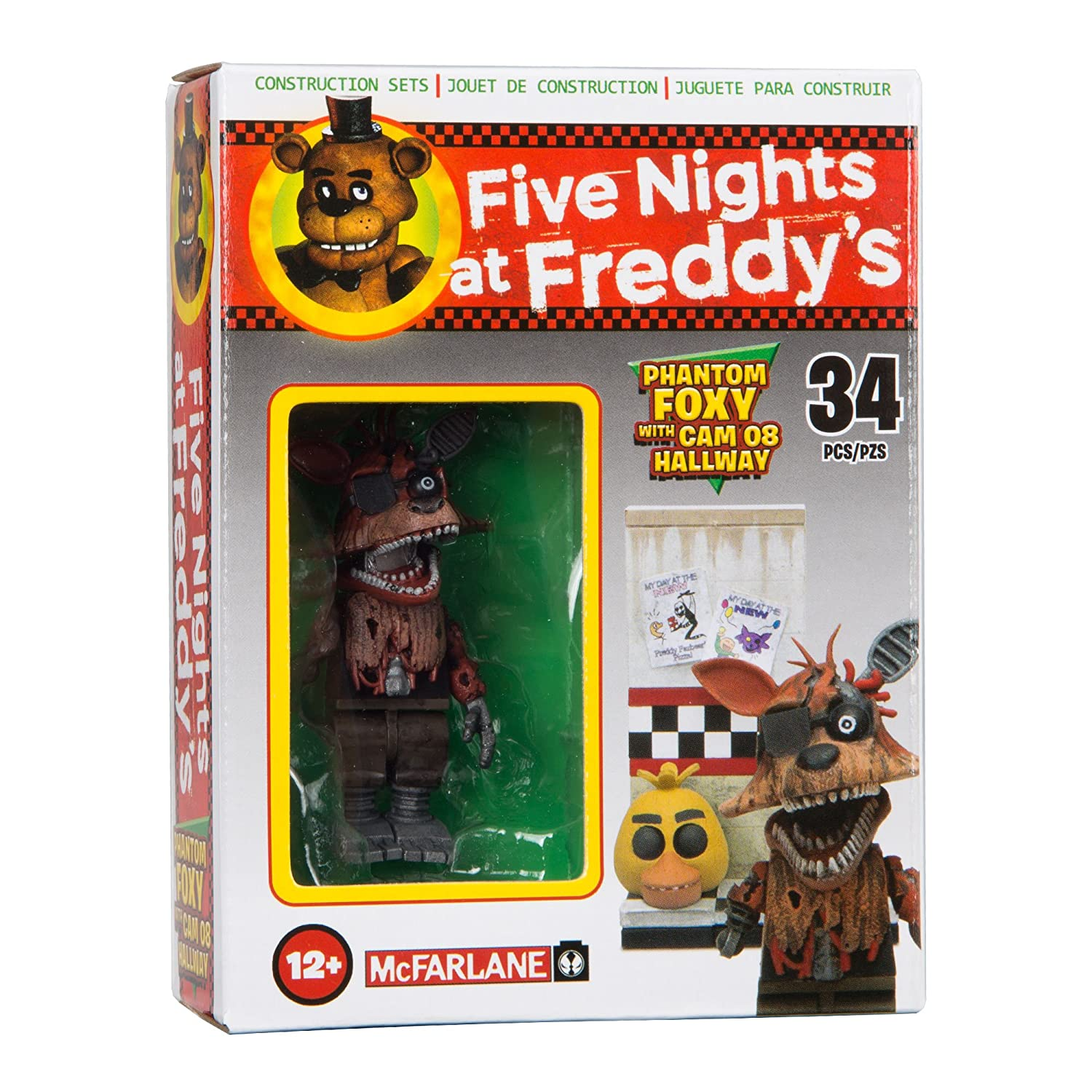 More five nights at freddy s construction sets coming soon - Amazon Com Mcfarlane Toys Five Nights At Freddy S Micro Cam 08 Hallway Construction Set Toys Games