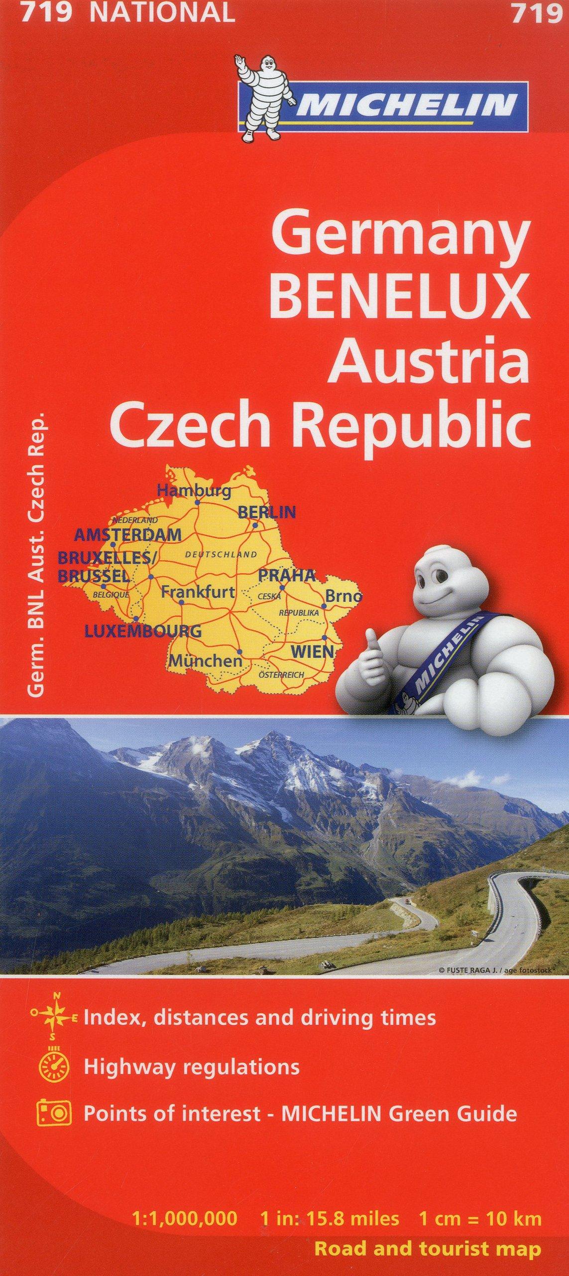 Michelin Map Of Germany.Michelin Germany Austria Benelux Czech Republic Map 719 Maps