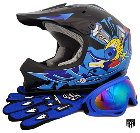 SmartDealsNow DOT Youth /& Kids Helmet for Dirtbike ATV Motocross MX Offroad Motorcyle Street bike Helmet Medium, Purple