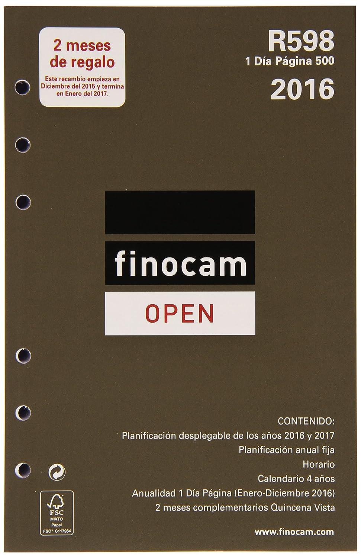 Finocam R 598 - Recambio agenda: Amazon.es: Oficina y papelería