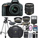 Nikon D5500 DX-format Digital SLR w/ AF-P DX NIKKOR 18-55mm f/3.5-5.6G VR + 32GB Memory Accessory Bundle – International Version