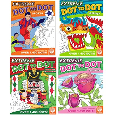 MindWare Extreme Dot to Dot Coloring Set of 4: Favorites Books: Toys & Games